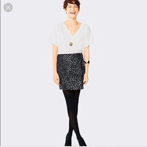 KATE SPADE ♠️ CALF HAIR DEER DOT MINI SKIRT